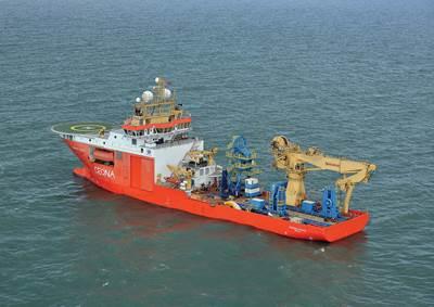 Ceona's DP3 Multi-purpose Vessel, the Normand Pacific (Credit NCS Survey)