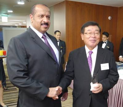 Sheikh Talal Al-Khaled Al-Ahmad Al-Sabah, Chief Executive Officer of KOTC (left), with Noboru Ueda, Chairman and President of ClassNK