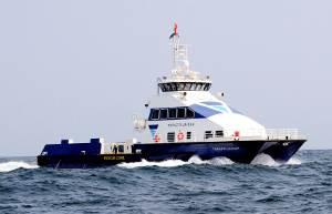 Topaz's newly built 98.4-ft crew boat, Topaz Fujairah (Photo courtesy Topaz Energy and Marine)