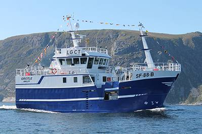 M/V Grotle (Photo courtesy of Cummins Norway)