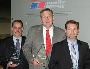Pictured from Atlantic DDA are left to right: Peter Cataford, Vice President, Branch Operations; John Farmer, President; and Charlie Attisani, Vice President, Engineering. (Photo courtesy Atlantic Detroit Diesel-Allison)