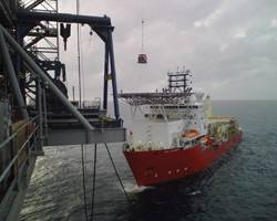 Offshore suppliers are anxious to get their vessels, such as the HOS Achiever, working again in the GOM. (Photo Credit: Hornbeck Offshore Services)