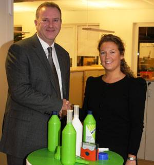 Andrew Stephens, Senior Vice President International Operations, and Thea Corwin, Head of Environment.