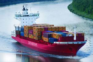 The 13.965 dwt container vessel M/S Containerships VII will be equipped with Wärtsilä's scrubber (Photo courtesy Wärtsilä Corporation)