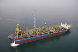 Pictured is the Espirito Santo Floating Production, Storage and Offloading (FPSO) vessel, the type of vessel that will soon be working offshore in the Gulf of Mexico. (Photo courtesy Shell)