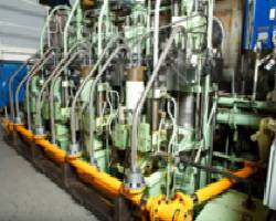The ME-GI engine featuring its integrated gas supply system