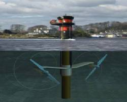 SeaGen tidal turbine, installed in Strangford Lough, County Down, Northern Ireland, (image courtesy of Marine Current Turbines (MCT))