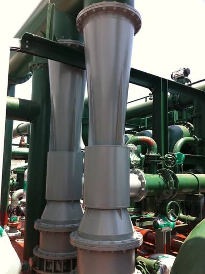 Venturi Injectors for VOS-6000 Venturi Oxygen Stripping Ballast Water Treatment System