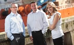 David Hickey (left) Barry Cann and Shona McKenzie. (Photo: qedi)
