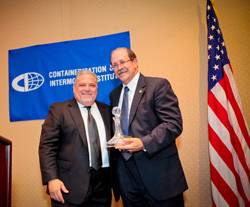 Allen Clifford (left) with Connie Award recipient Richard Steinke (right), Executive Director Port of Long Beach