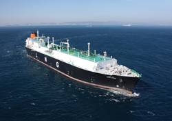 "Hyundai Heavy Industries' built Abdelkader, a 177,000 cu. m. Tri-Fuel Diesel Electric LNG Carrier which was named ""Great Ship of the Year"" in 2010 by Maritime Reporter & Engineering News."