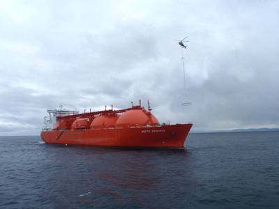 Trials with Arctic Princess LNG Carrier.