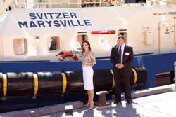 """Crown Pricess Mary Launches Tug """"SVITZER"""""""