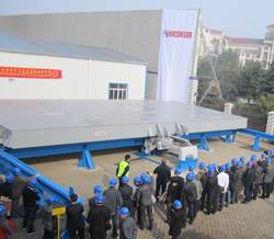 Close to 150 customers from Chinese and Japanese shipyards attended Cargotec's first full-scale MacRack demonstrations, which were held in Nantong