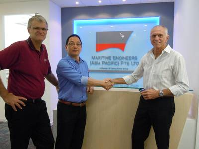 Kent Stewart & Han Jong Kwang at the new Singapore office.