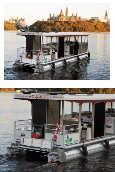 Aquabus, a new water-taxi service in Ottawa, Ontario