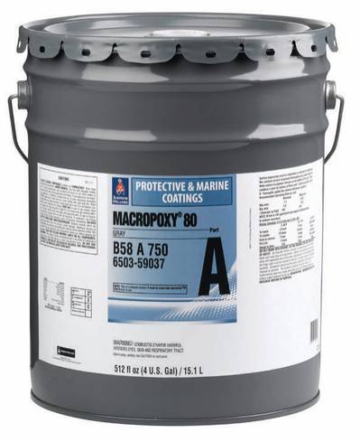 Macropoxy 80; HAPs-free epoxy coating resists corrosion in marine and offshore applications.