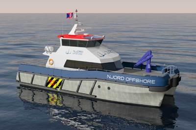 20 metre catamarans designed by ship designer BMT Nigel Gee.