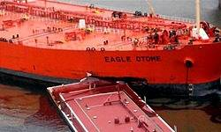 Greek Tanker Eagle Otome. Credit Iran Official News Agency FARS