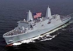 USN LPD 27 Class Ship: Photo credit HII