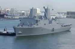 USS San Antonio: Credit USN