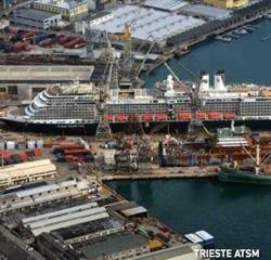 Shipyard Trieste: Photo courtesy Fincantieri
