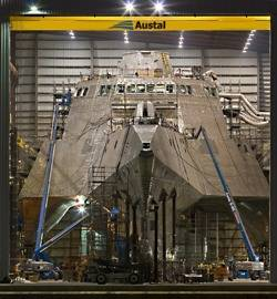 Littoral Combat Ship: Photo courtesy Austal
