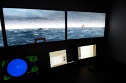 One of four mini bridges with visuals, propulsion controls, ECDIS, Radar/ARPA-- with capability for integration with the Main Bridge simulator.