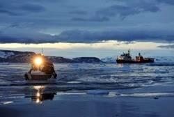 Antarctic Rescue Operation:Photo credit Royal Navy