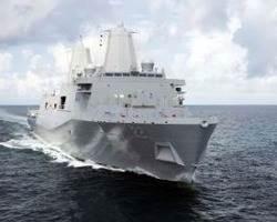 USS San Diego: Photo credit HII