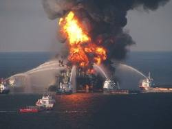 Deepwater Horizon: Photo credit USCG