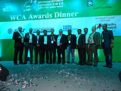 Ben Jones, maritime logistics operations manager - Saudi Arabia; Russell Dinwoodie, GM Kuwait; Unni Krishnan, seafreight manager Bahrain; Avanish Bhat, sales manager Qatar, Flemming Andersen, area logistics manager – MEA; Alex Lewis, GM KSA; Gresham Vadivelu, ML sales manager Dubai; Rohit Diwan, logistics manager India; Raja Ilyas, liner manager Pakistan; Frank Olsen, GM Iraq & Jordan and Ricardo D'Roza, airfreight manager Dubai (Photo: WSS)