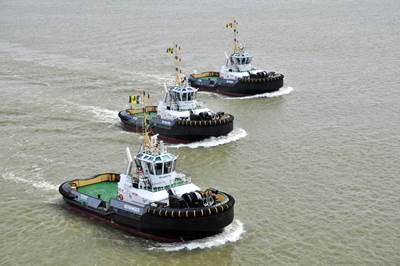 Three Damen ASD 2810 tugs (Photo: Damen).