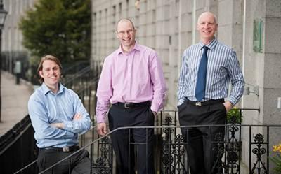 Rob Fisher (center) joins Stuart McAuley (left) and Murray Douglas as a director at Senergy Development Solutions (Photo: Senergy).