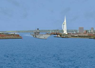 Departing Portsmouth (Photo: BMT Isis Ltd.).