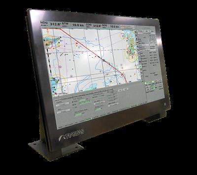 A Transas 24-inch' ECDIS Panel PC (Photo: Transas Marine).