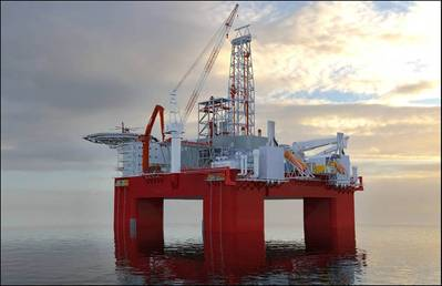 A prototype of a Cat B rig installation (Photo: Statoil).