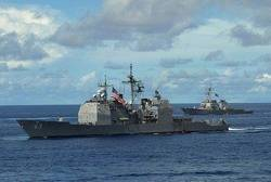 Ticonderoga-class 'USS Cowpens': Photo credit USN