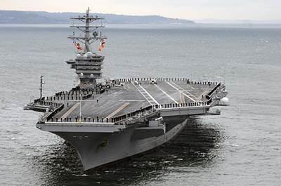 USS Nimitz: Photo credit USN