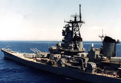 the historic battleship, the USS IOWA