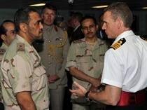 Capt Guy Robinson Shows Saudi Naval Personnel Around: Photo credit MOD