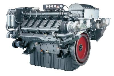 the 12AY series High-Speed Commercial Workboat diesel engine.