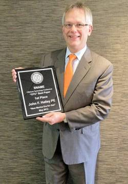 """John Hatley, Americas Vice President Ship Power, Wärtsilä North America, was announced as the 1st place author in """"The Winning Authors of Best Papers Presented at 2012 Offshore Technology Conference (OTC)."""""""