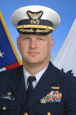 Captain Anthony Lloyd, Commanding Officer, U.S. Coast Guard National Maritime Center.