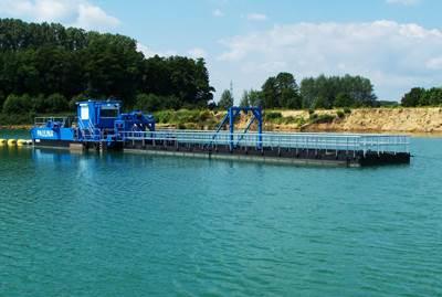 IDRECO 32 m (100 ft) digging depth, 400 TPH sand mining dredger.