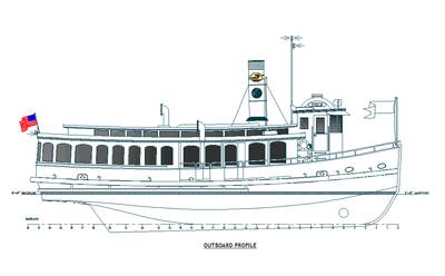 An all steel vessel the new ferry is similar in style to the steam driven riverboats of a century ago.
