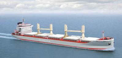 A new generation of 35,000 dwt bulkers will feature MacGregor variable frequency drive cranes and folding-type hatch covers from Cargotec