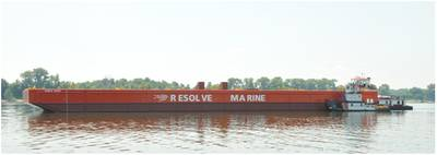 RMG1000 launch on the Ohio River, Corn Island Shipyard, Grandview, IN