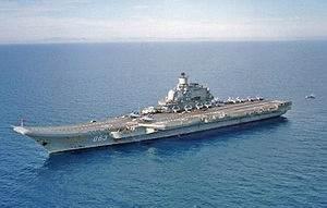 Russian Aircraft Carrier 'Admiral Kuznetsov': Photo credit Wikimedia CCL