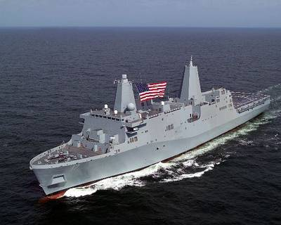 San Antonio Class LPD: Image credit Northrop Grumman Ship Systems